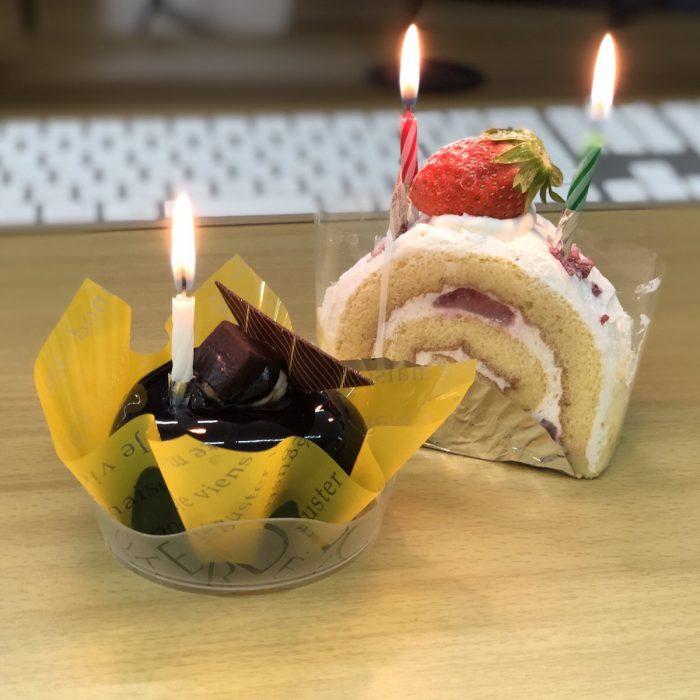 誕生日ケーキ|坂井建設候補の仕事 ある日の仕事スケジュール|大分市の工務店 坂井建設採用情報ブログ