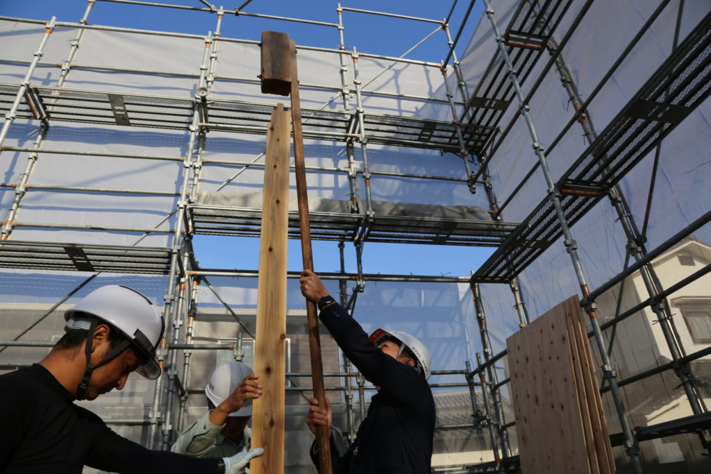 sakaiモデルハウス上棟 – 坂井の規格住宅 – 大分市の工務店 坂井建設採用情報ブログ