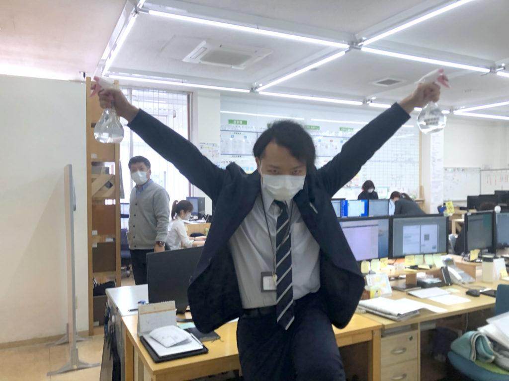 新型コロナウイルスへの怒りをあらわにする羽山|すべてはお客様のために!|大分の工務店 坂井建設新卒採用情報ブログ