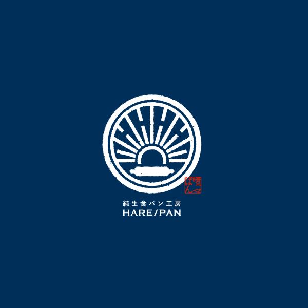 ハレパンのブルー背景のロゴ画像