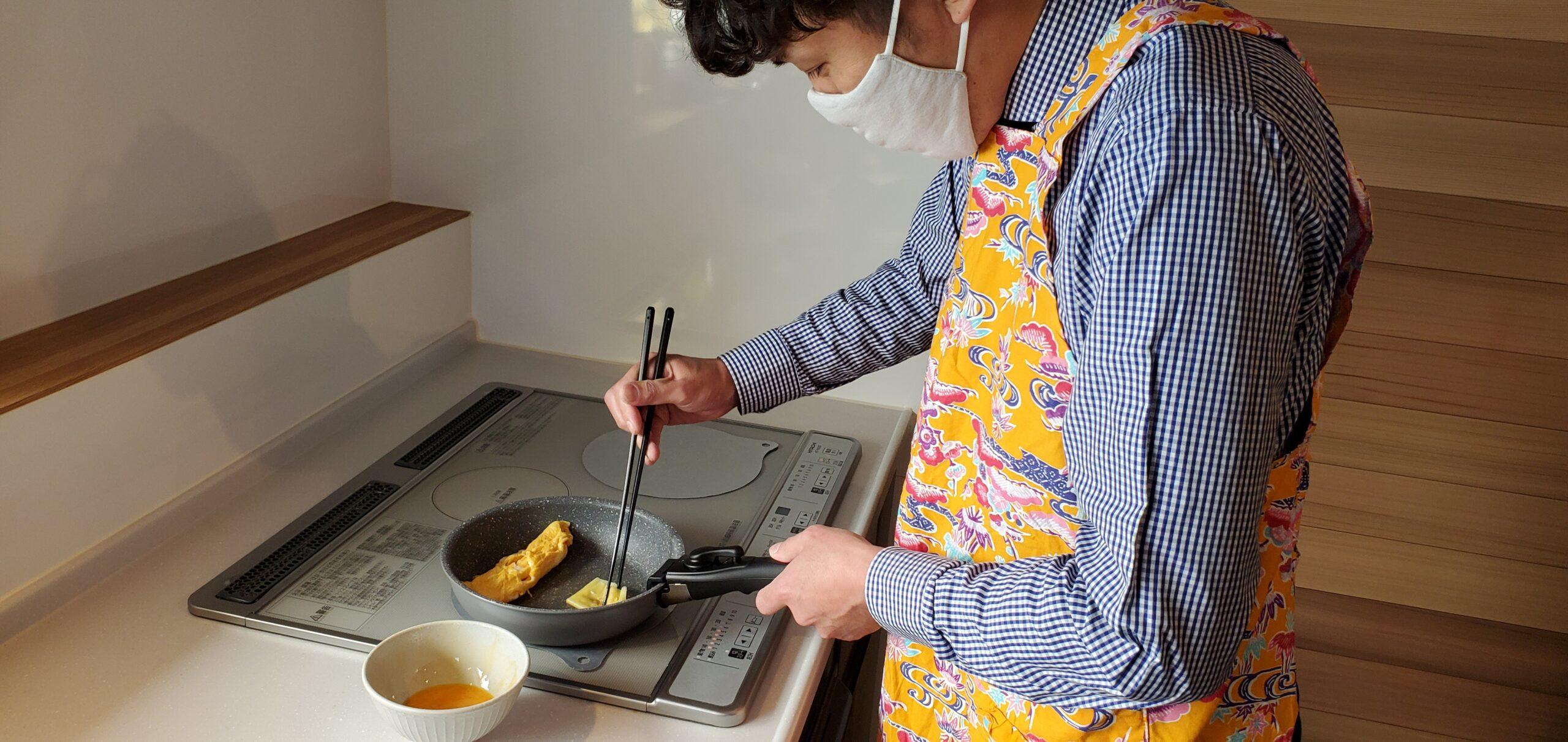 長めの卵焼きを作る