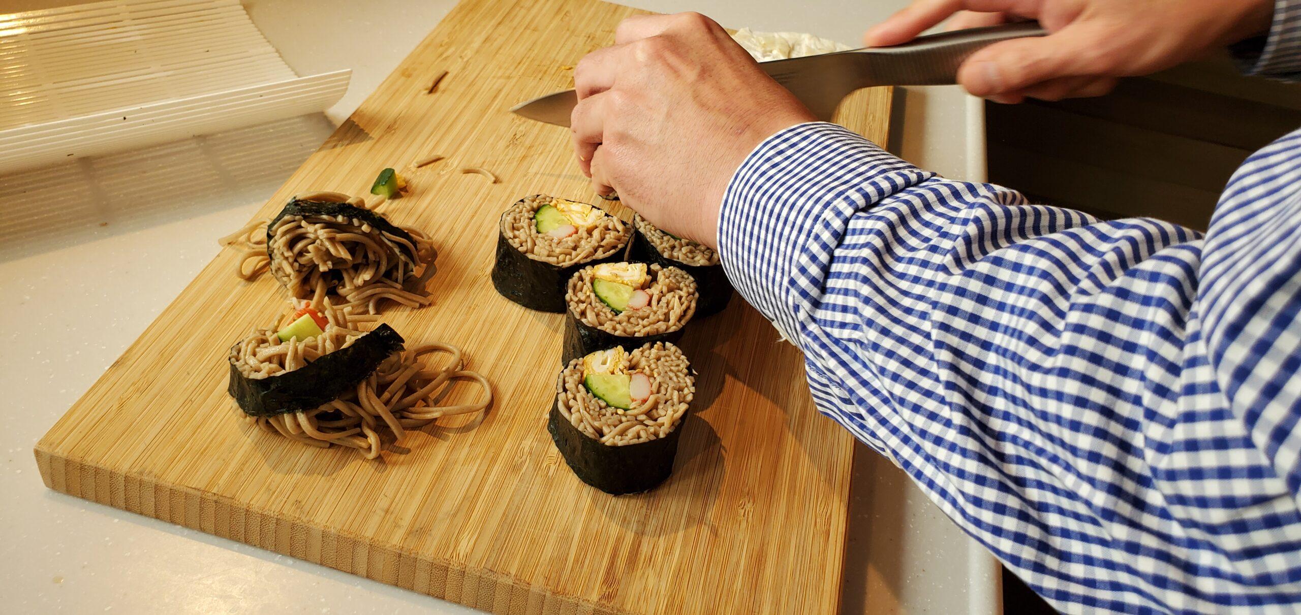 そば寿司の完成